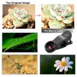 180 graus de macro Lens+0.65X de Fisheye Lens+15X 100 graus de lente ótica larga do telefone da câmera do Telephoto do zoom do ângulo Lens+3X