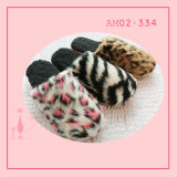 Winter Warm Leopard Print Indoor Pretty Slipper TPR