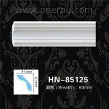 Polyurethan-Gesims PU-Decken-Dekoration PU, die Hn-85125 formt