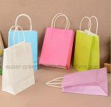 A alta qualidade personaliza o saco de compra de papel