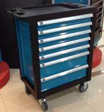 Комплект инструмента шкафа автомобиля Kraft верхнего продавеца 6 ящиков швейцарский на колесах