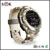 Sek reloj de la manera impermeable de metal Bluetooth PS1500 Deporte correa de acero inteligente para los teléfonos inteligentes con el podómetro