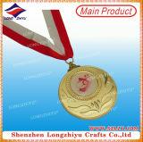 Médaille faite sur commande d'enjeu de sports de médaille de récompense de médaille ronde en métal avec de l'époxy