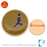 Insigne estampé par fer fait sur commande de Pin en métal pour le contact de sport de Chine