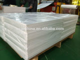 3*4 folha rígida do PVC do plástico branco lustroso dos pés 1.5mm