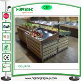 Estante del estante de visualización de la fruta y verdura del metal del supermercado