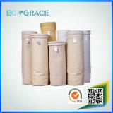 Фильтр мешка стеклоткани 260 градусов высокотемпературный упорный для завода цемента