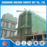 Filet de sécurité en plastique vert d'échafaudage de construction pour la construction