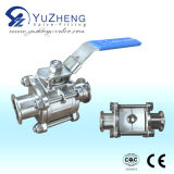 3PC Stainless Steel Clamped End Ball Valve