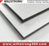 Panneau composé en aluminium d'enduit de PVDF pour le revêtement de mur dans la couleur métallique