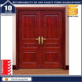 Porte en bois de double de panneau de conception placage extérieur en bois plein