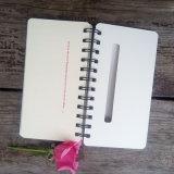 Spiraalvormige het Schrijven van Kraftpapier Hardcover van de Levering van de Fabriek van de kantoorbehoeften Bruine Notitieboekjes