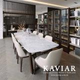大理石の上(TD102)が付いているKaviarの熱販売の長いダイニングテーブル