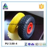고품질 플라스틱 변죽 PU 고체 바퀴