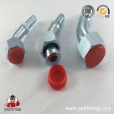 90° Instalación de tuberías plana femenina métrica de acero inoxidable del sello (20291.20291T)