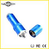 Aluminiumlegierung nachladbare CREE XP-E LED wasserdichte Zoomable Fackel (NK-1862)