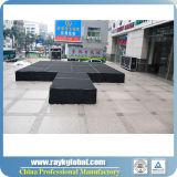 etapa negra de la prolongación del andén de la madera contrachapada de 18m m para la etapa del desfile de moda