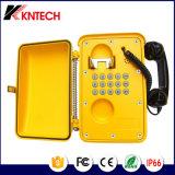 Teléfonos KNSP-01t2j SIP VoIP Tecnología resistente a la intemperie Teléfono rugosas