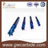 Торцевые фрезы карбида вольфрама с голубым Nano покрытием