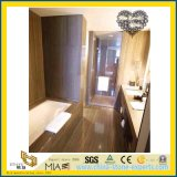 Obama Wood 또는 캐나다 Coffee 또는 Floor Covering/Interior Decoration를 위한 브라운 Wooden Marble Slabs