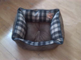 Oxford Cloth Bottom Plaid Fabric Square Cama de luxo do cão