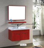 Module de salle de bains rose d'acier inoxydable