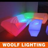 Nuevo sofá plástico ligero moderno del diseño LED