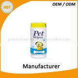 Wipes bagnati non tessuti dell'animale domestico antibatterico
