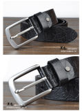 カスタム合金の針のバックルの人の女性の革靴の本革ベルト
