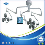 Luz cirúrgica do funcionamento da abóbada dobro com câmera e monitor