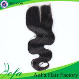 Extensão malaia de trama do cabelo humano de Remy para o preto natural