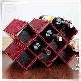 Boîte à vin de crémaillère de cuir de crocodile d'hôtel pour la vente en gros