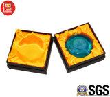 Caixa de papel de empacotamento do cosmético rígido luxuoso da caixa de presente da caixa com bandeja da espuma
