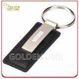 Mejor Vendedor para imprimir rectangular metal de la forma y la llave cadena de cuero