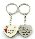 Trousseaux de clés de nom de forme de coeur, accessoires de trousseau de clés (GZHY-KA-032)