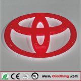 Logo acrylique personnalisé de véhicule de la base DEL, signe de logo de véhicule avec DEL Insided