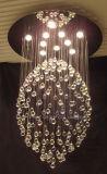 Luz de teto K9 moderna decorativa de cristal de Phine boa grande