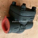 API602 Acero al carbono forjado A105 soldadura extremo de la válvula de retención de elevación