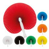 Der 7 Farben-bevorzugt Minihandfalz-chinesisches Papier-Fan für Hochzeit Weinlese-Art orientalische faltende Ventilatoren