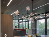 Das populäre moderne zeitgenössische Goldglas, das hängende Lampe hängt, beleuchtet Beleuchtung für Küche-/Dining-Raum