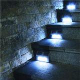 태양 강화된 LED 가벼운 경로 층계 잘 고정된 담 단계 정원 램프