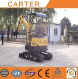 Cola cero de CT16-9b (1.6t&1700kg)/excavador hidráulico del chasis retractable mini