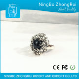 Elegante Klassieke Ring 925 van de Manier de Echte Zilveren Reeks van de Bloem van Juwelen