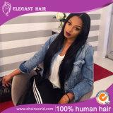 """De seda """" cor cabelo volume extensão cabelo Remy em linha reta 20 preta (HH-HB20B)"""