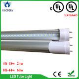 4FT 24W G13 2ピン日の白い6000k cUL UL LED T8の管ライトランプ