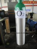 Cilindro de aluminio médico/industrial 8L de la venta caliente de oxígeno