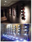 鉄の木製のワインの荷ずり木のワインラックホーム家具の習慣