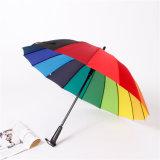 Цветастый автоматический зонтик Sy004 гольфа радуги 16 нервюр