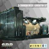 1270kVA 50Hz öffnen Typen das Dieselgenerator-Set, das von Cummins angeschalten wird