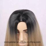 Capelli diritti lunghi delle intere della parrucca donne dorate cape piene di modo